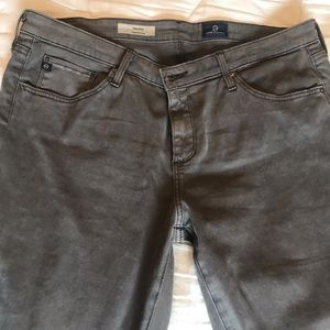 AG brand brushed cotton gray jeans